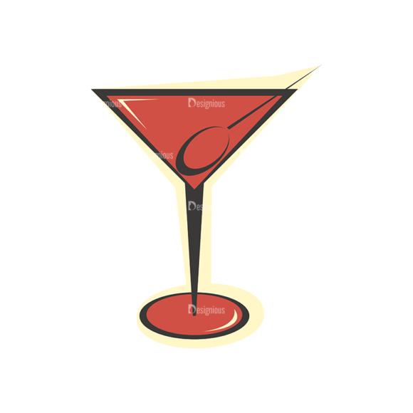 Party Retro Vector Set 2 Vector Beverages Clip Art - SVG & PNG vector