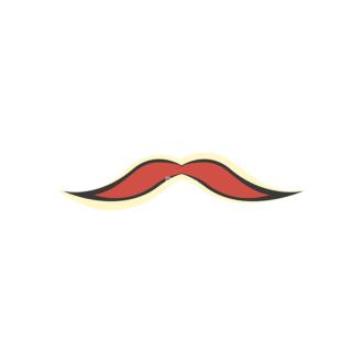 Party Retro Vector Set 2 Vector Mustache Clip Art - SVG & PNG vector