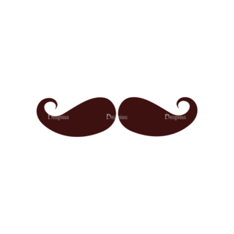 Party Vector Elements Set 1 Vector Mustache 03 Clip Art - SVG & PNG vector