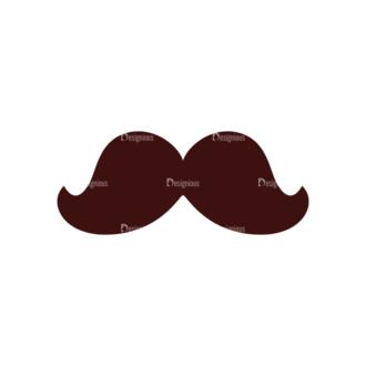 Party Vector Elements Set 1 Vector Mustache 07 Clip Art - SVG & PNG vector