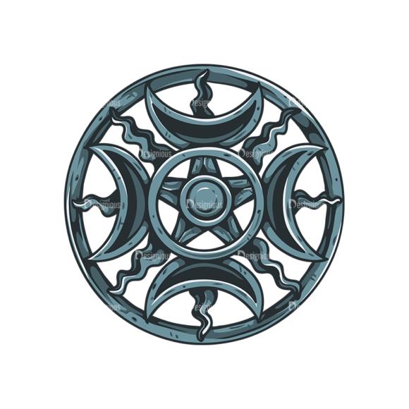 Pentagrams Vector 1 4 Clip Art - SVG & PNG vector