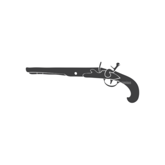 Pirates Vintage Vector Set 3 Vector Gun Clip Art - SVG & PNG vector