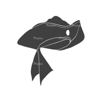 Pirates Vintage Vector Set 3 Vector Hat Clip Art - SVG & PNG vector