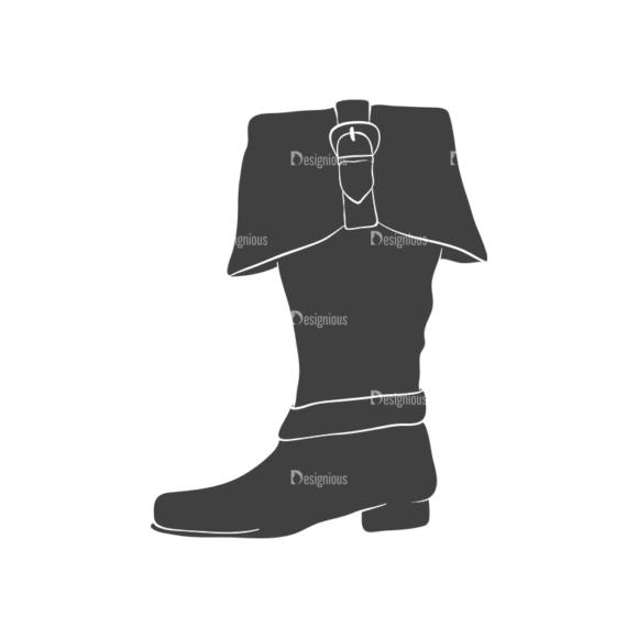 Pirates Vintage Vector Set 3 Vector Shoes Clip Art - SVG & PNG vector