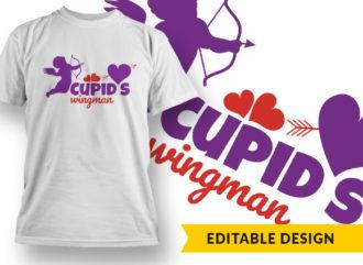 Cupids Wingman Online Designer Templates vector