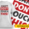 Cancel 2020 Please T-shirt Designs and Templates vector