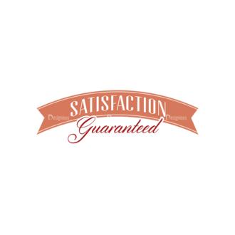 Quality And Satisfaction Guarantee Ribbons Vector Set 1 Vector Ribbon 06 Clip Art - SVG & PNG vector