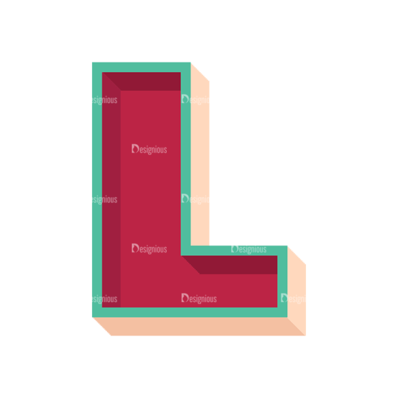 Retro Alphabet Set 7 Vector Alphabet 11 Clip Art - SVG & PNG vector