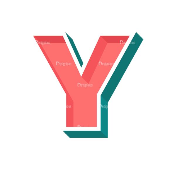 Retro Alphabet Set 7 Vector Alphabet 23 Clip Art - SVG & PNG vector