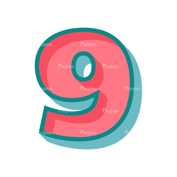Retro Alphabet Set 7 Vector Number 33 Clip Art - SVG & PNG vector