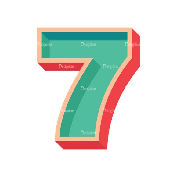 Retro Alphabet Set 7 Vector Number 35 retro alphabet set 7 vector number 35