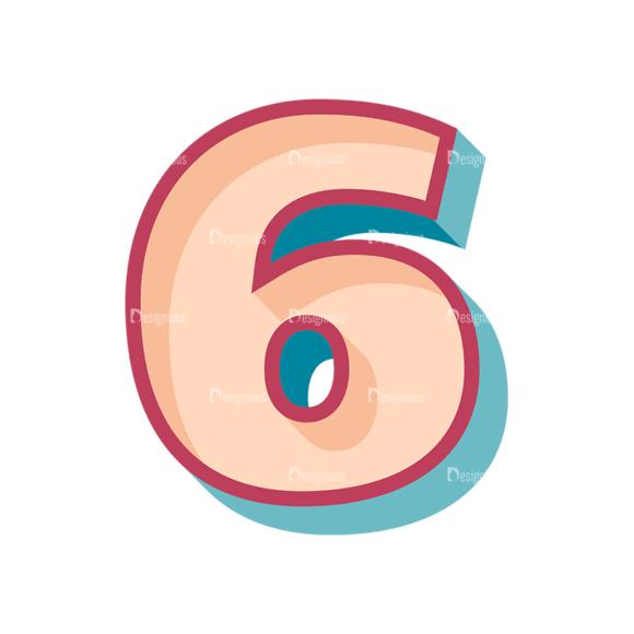 Retro Alphabet Set 7 Vector Number 36 Clip Art - SVG & PNG vector