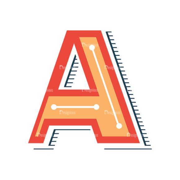 Retro Alphabet Set 8 Vector Alphabet 01 1