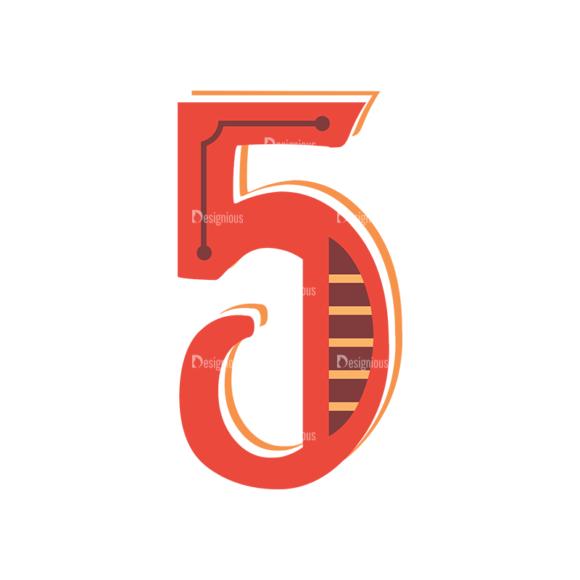 Retro Alphabet Set 8 Vector Number 31 1
