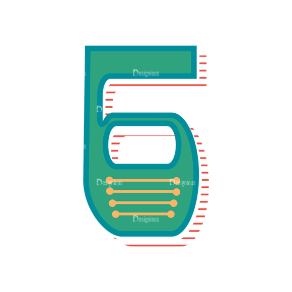Retro Alphabet Set 8 Vector Number 32 retro alphabet set 8 vector number 32