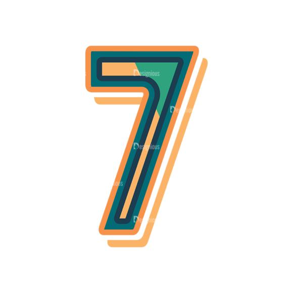 Retro Alphabet Set 8 Vector Number 33 retro alphabet set 8 vector number 33