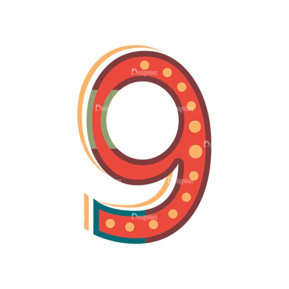 Retro Alphabet Set 8 Vector Number 35 retro alphabet set 8 vector number 35