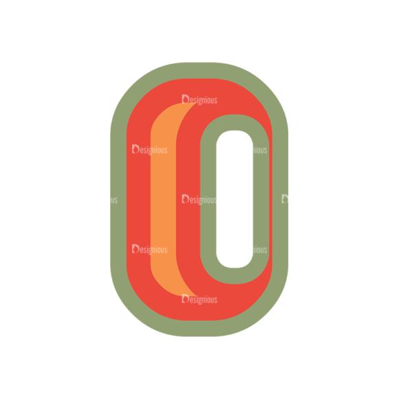 Retro Alphabet Set 8 Vector Number 36 Clip Art - SVG & PNG vector