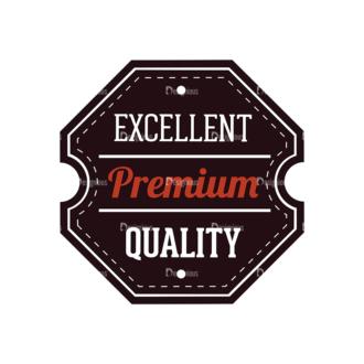 Retro Labels Vector Set 3 Vector Badge 01 Clip Art - SVG & PNG vector