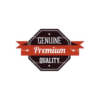 Retro Labels Vector Set 3 Vector Badge 07 Clip Art - SVG & PNG vector