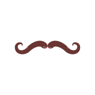 Retro Party Set Vector Set 2 Vector Mustache 03 Clip Art - SVG & PNG vector
