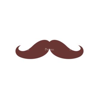 Retro Party Set Vector Set 2 Vector Mustache 07 Clip Art - SVG & PNG vector