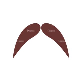 Retro Party Set Vector Set 2 Vector Mustache 12 Clip Art - SVG & PNG vector