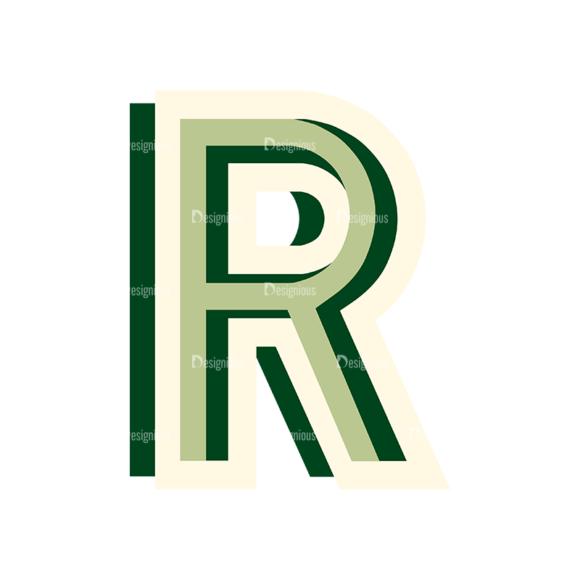 Retro Typography Set 11 Vector Large Aphabet 19 retro typography set 11 vector large aphabet 19