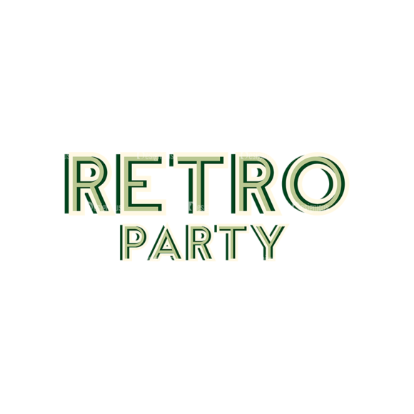 Retro Typography Set 11 Vector Large Retro retro typography set 11 vector large retro