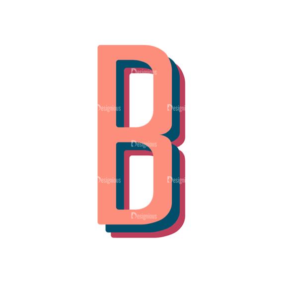 Retro Typography Vector Set 10 Vector Alphabet 02 Clip Art - SVG & PNG vector