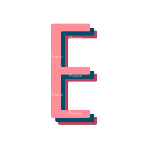 Retro Typography Vector Set 10 Vector Alphabet 05 retro typography vector set 10 vector alphabet 05
