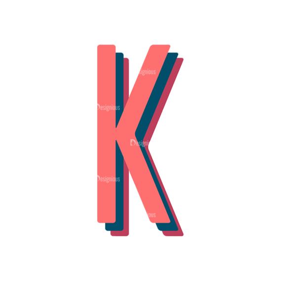 Retro Typography Vector Set 10 Vector Alphabet 11 1