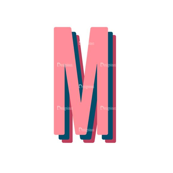 Retro Typography Vector Set 10 Vector Alphabet 13 1