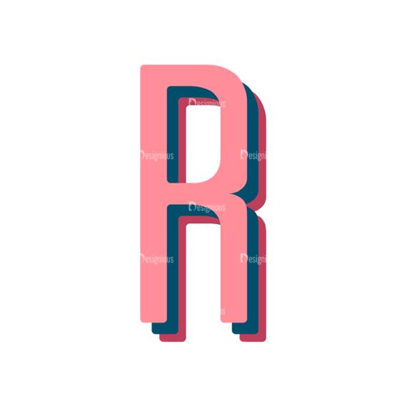 Retro Typography Vector Set 10 Vector Alphabet 18 5