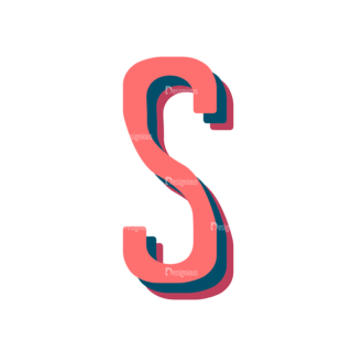 Retro Typography Vector Set 10 Vector Alphabet 19 Clip Art - SVG & PNG vector