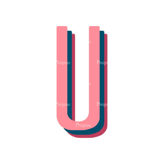 Retro Typography Vector Set 10 Vector Alphabet 21 Clip Art - SVG & PNG vector