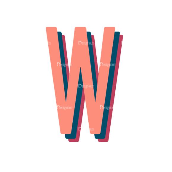 Retro Typography Vector Set 10 Vector Alphabet 23 1