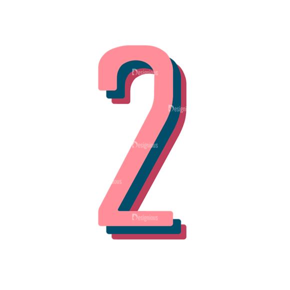 Retro Typography Vector Set 10 Vector Number 29 Clip Art - SVG & PNG vector
