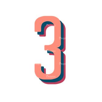 Retro Typography Vector Set 10 Vector Number 30 Clip Art - SVG & PNG vector