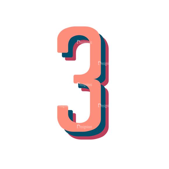 Retro Typography Vector Set 10 Vector Number 30 retro typography vector set 10 vector number 30