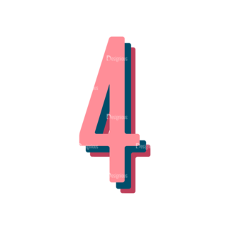 Retro Typography Vector Set 10 Vector Number 31 Clip Art - SVG & PNG vector