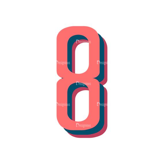 Retro Typography Vector Set 10 Vector Number 35 Clip Art - SVG & PNG vector