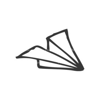 School Doodle Vector Set 1 Vector Airplane Paper Clip Art - SVG & PNG vector