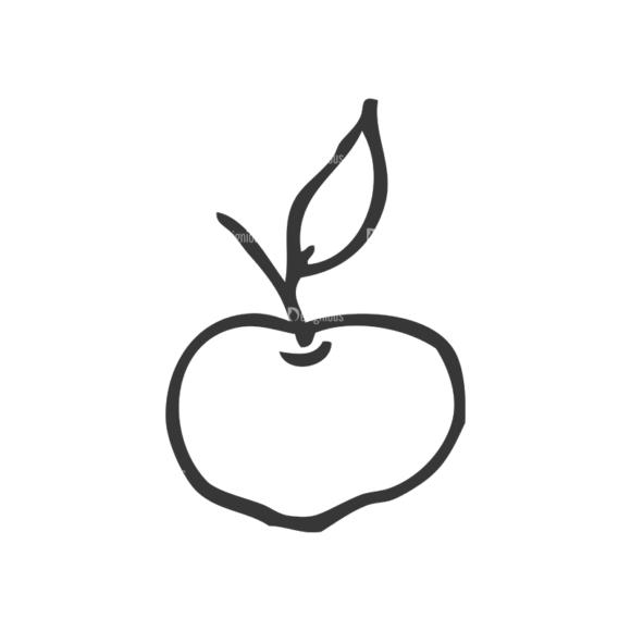 School Doodle Vector Set 1 Vector Apple Clip Art - SVG & PNG vector