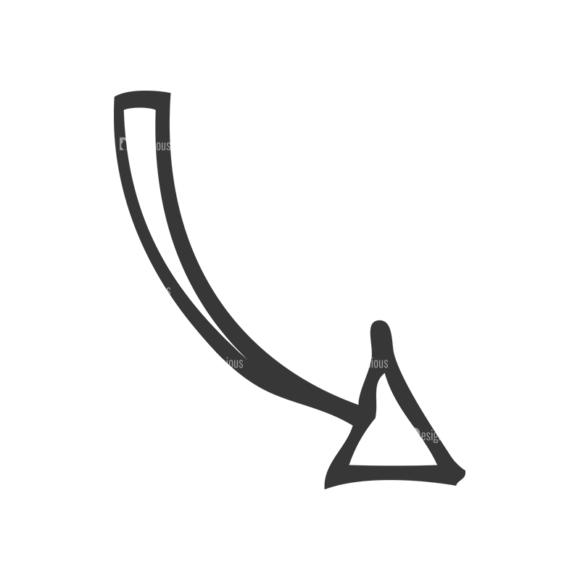 School Doodle Vector Set 1 Vector Arrow 15 Clip Art - SVG & PNG vector