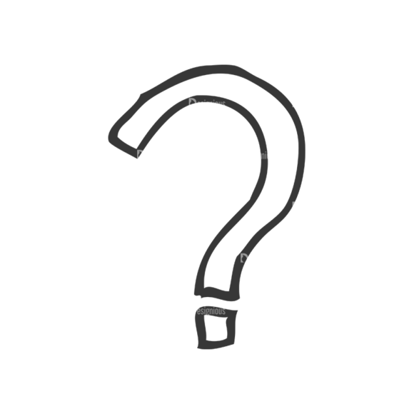 School Doodle Vector Set 1 Vector Question Mark 01 Clip Art - SVG & PNG vector