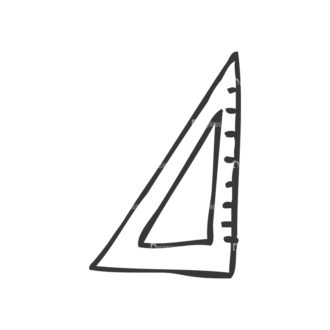 School Doodle Vector Set 1 Vector Ruler 25 Clip Art - SVG & PNG vector