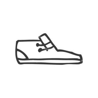 School Doodle Vector Set 1 Vector Shoes Clip Art - SVG & PNG vector