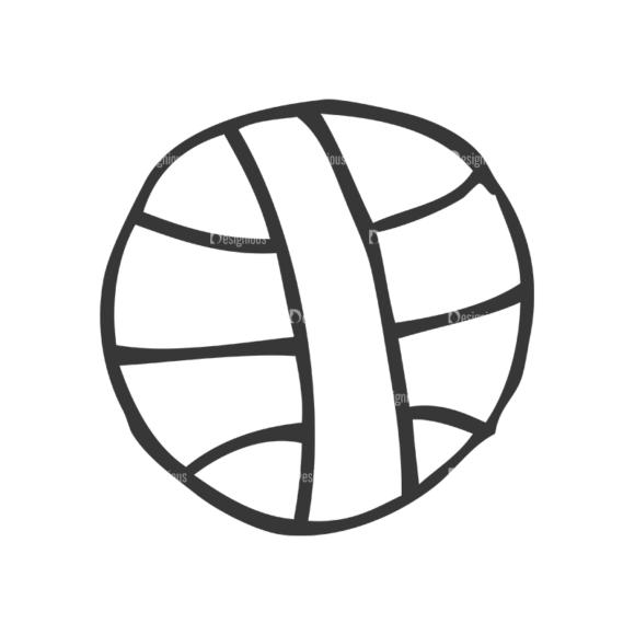 School Doodle Vector Set 1 Vector Ball Clip Art - SVG & PNG ball