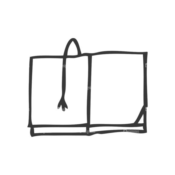 School Doodle Vector Set 1 Vector Book 24 Clip Art - SVG & PNG vector